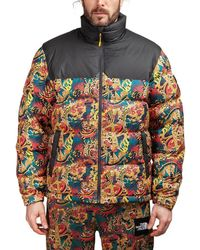 The North Face - Abstract Print Padded Jacket - Lyst