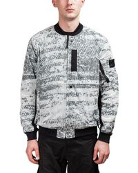 Stone Island Shadow Project - Printed Zip Up Bomber Jacket - Lyst