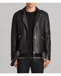 AllSaints   Kaho Leather Biker Jacket   Lyst