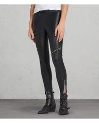 AllSaints - Kriva Biker Leggings - Lyst