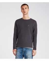 AllSaints - Clash Long Sleeve Crew T-shirt - Lyst