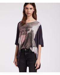 AllSaints - Rip Dreams T-shirt - Lyst