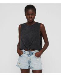 AllSaints - Cleo Denim Boyfriend Shorts - Lyst