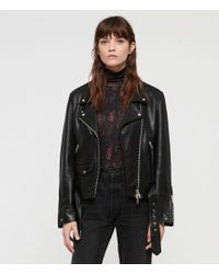 AllSaints - Billie Leather Biker Jacket - Lyst