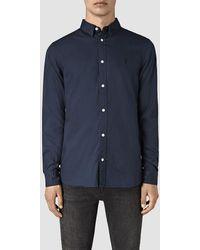 AllSaints | Redondo Long Sleeve Shirt | Lyst