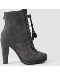 AllSaints - Grimsby Suede Ankle Boots - Lyst