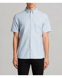 AllSaints - Huntingdon Short Sleeve Shirt - Lyst