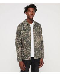 AllSaints - Fassett Camouflage Shirt - Lyst
