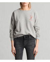 AllSaints - Cupid Laurel Sweatshirt - Lyst