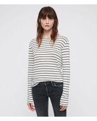 AllSaints - Esme Breton Stripe T-shirt - Lyst