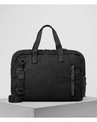 AllSaints - Shoto Leather Holdall - Lyst