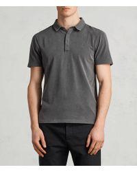 AllSaints - Ossage Polo Shirt - Lyst