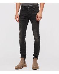 AllSaints - Mens Black Cotton Comfortable Cigarette Skinny Jeans, Size: 31 - Lyst