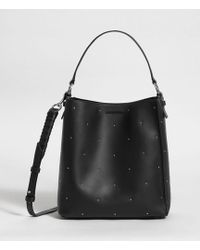 AllSaints - Kathi Small North South Leather Tote Bag - Lyst