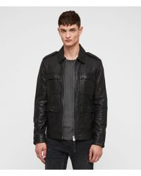 AllSaints - Kage Leather Jacket - Lyst
