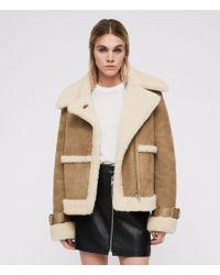 AllSaints - Farley Shearling Jacket - Lyst