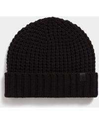 AllSaints - Thermal Stitch Beanie - Lyst