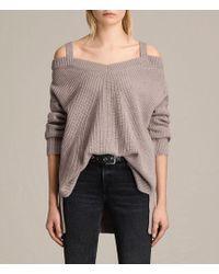 AllSaints - Dasha V-neck Sweater - Lyst