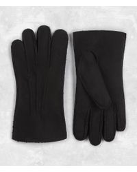 AllSaints - Bering Leather Gloves - Lyst