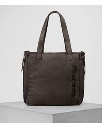 AllSaints - Shoto Leather Tote - Lyst