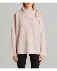 AllSaints   Sura Tie Neck Sweater   Lyst