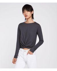 AllSaints - Carme Long Sleeve T-shirt - Lyst