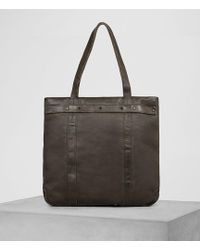 AllSaints - Storm Leather Tote - Lyst