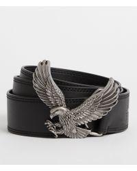AllSaints - Aquilo Leather Belt - Lyst