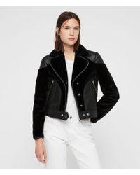 AllSaints - Zola Lux Leather Jacket - Lyst