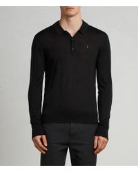AllSaints - Mode Merino Polo Shirt - Lyst