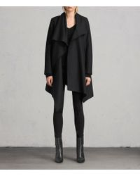 AllSaints - City Monument Coat - Lyst