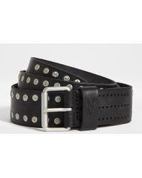 AllSaints - Dice Stud Leather Belt - Lyst