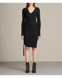 AllSaints - Vana V-neck Dress Usa Usa - Lyst