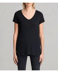 AllSaints - Malin Silk T-shirt - Lyst