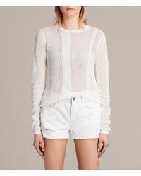 AllSaints - Springs Crew Sweater - Lyst