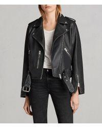 AllSaints - Vintage Leather Balfern Jacket - Lyst