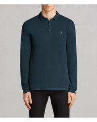 AllSaints - Reform Long Sleeved Polo Shirt - Lyst