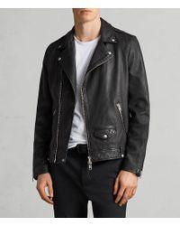 AllSaints   Milo Leather Biker Jacket   Lyst