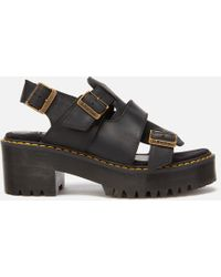 Dr. Martens - Ariel Leaather Chunky Heeled Sandals - Lyst