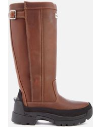 HUNTER - Women's Balmoral Leather Boots - Lyst