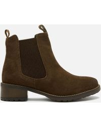 Barbour - Latimer Waxy Suede Chelsea Boots - Lyst