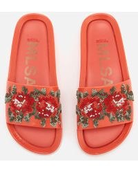 Melissa - Flower Pixel Beach Slide Sandals - Lyst
