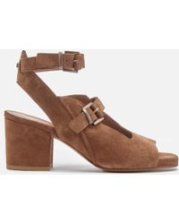 H by Hudson - Rona Suede Heeled Sandals - Lyst