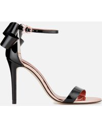 Ted Baker - Sandalo Leather Barely There Heeled Sandals - Lyst