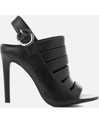 Kendall + Kylie - Women's Mia Strappy Leather Heeled Sandals - Lyst