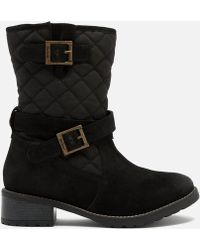 Barbour - Women's Barnes Waxy Suede Quilted Mid Boots - Lyst