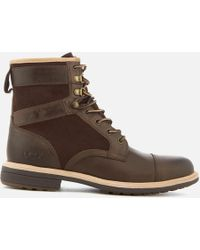 UGG - Men's Magnusson Grain Leather Lace Up Boots - Lyst