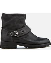 H by Hudson - Women's Mac Leather Biker Boots - Lyst
