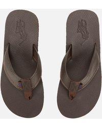 1d66bb18d70e Polo Ralph Lauren - Sullivan Iii Tumbled Leather Sandals - Lyst