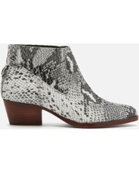 H by Hudson - Ernest Snake Ankle Boots - Lyst